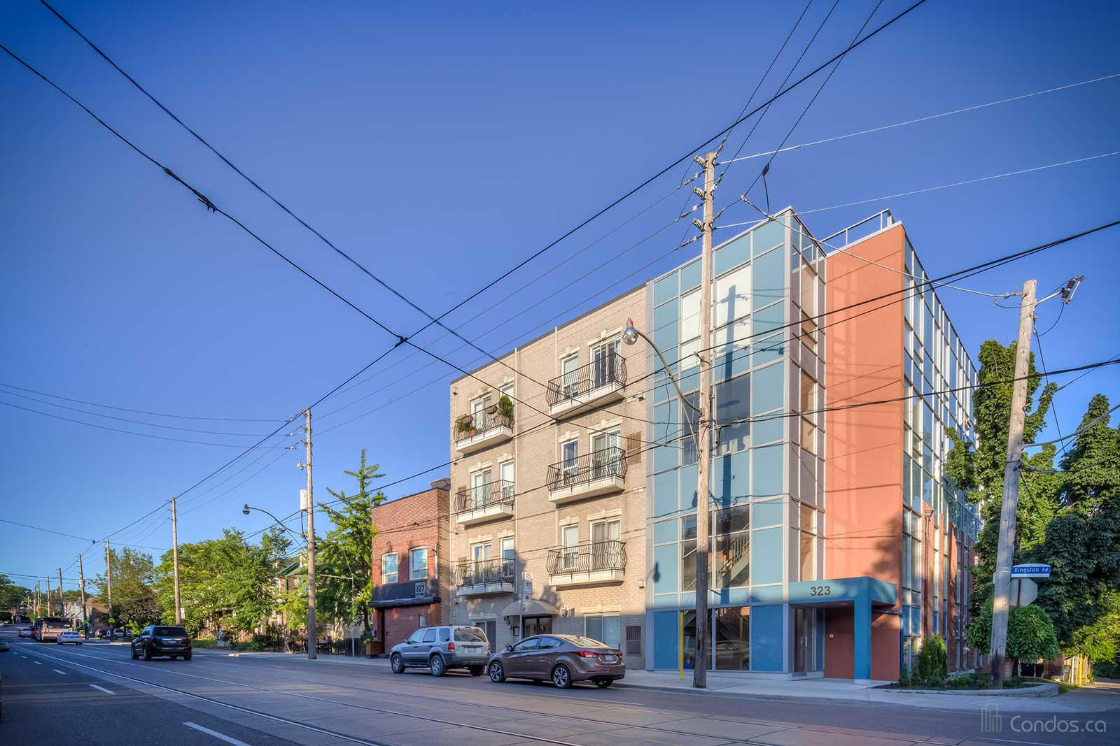 Cornerstone Terrace Boutique Lofts at 323 Kingston Rd, Toronto 1