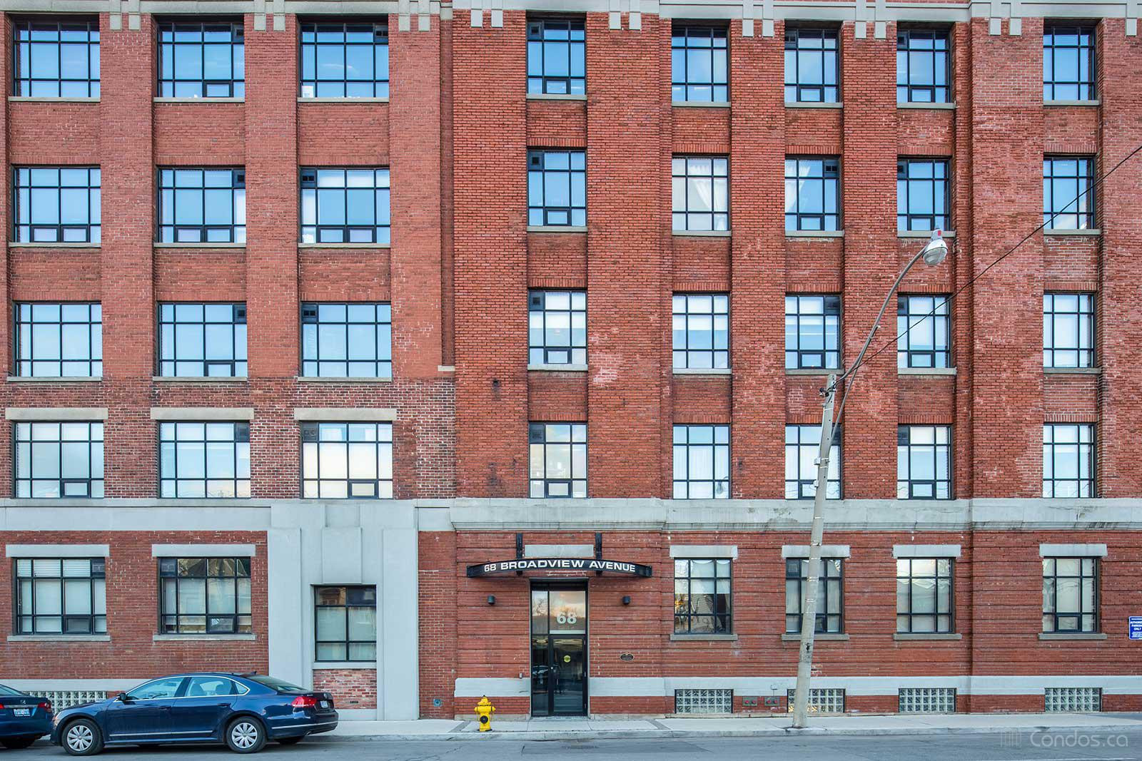 Broadview Lofts at 68 Broadview Ave, Toronto 1