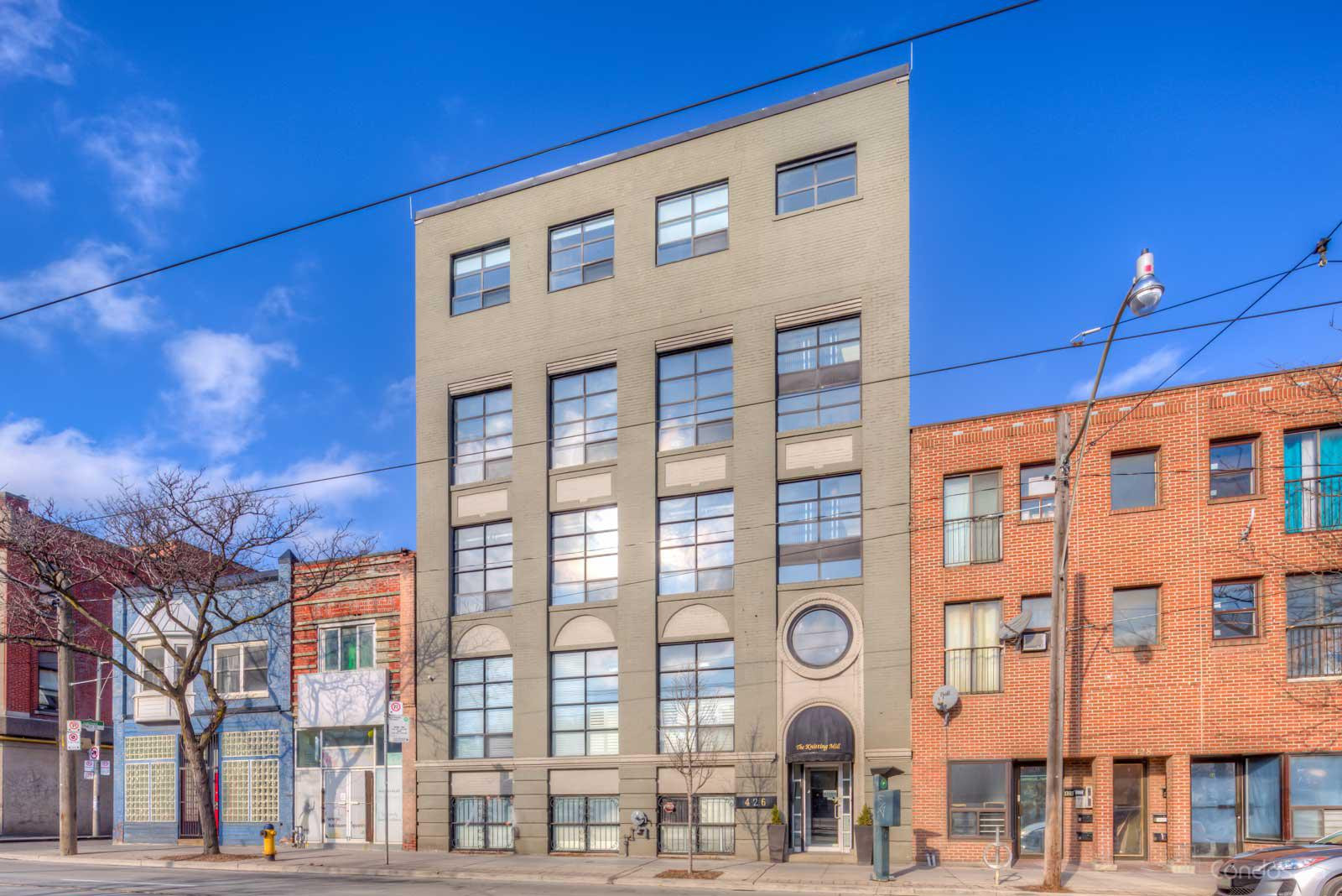 The Knitting Mill Lofts at 426 Queen St E, Toronto 0
