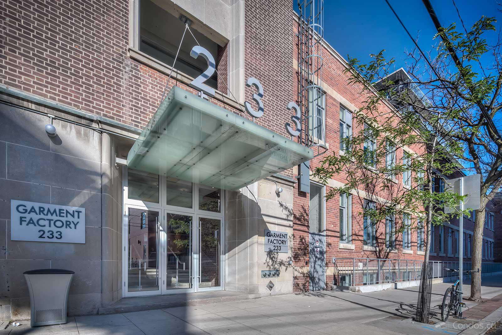 Garment Factory Lofts at 233 Carlaw Ave, Toronto 1