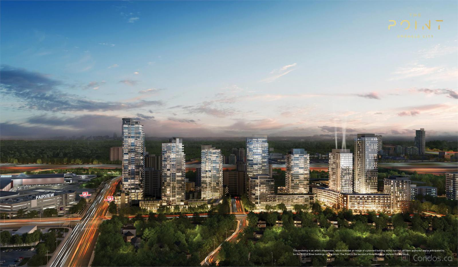 The Point at Emerald City at 1800 Sheppard Ave E, Toronto 1