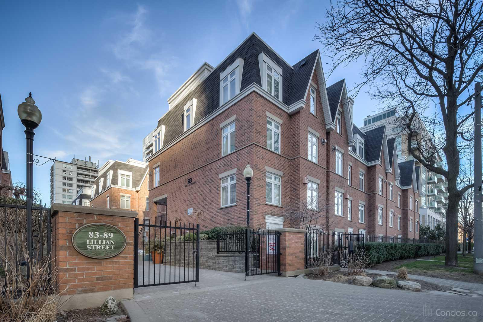 Redpath Townhomes at 83 Lillian St, Toronto 1