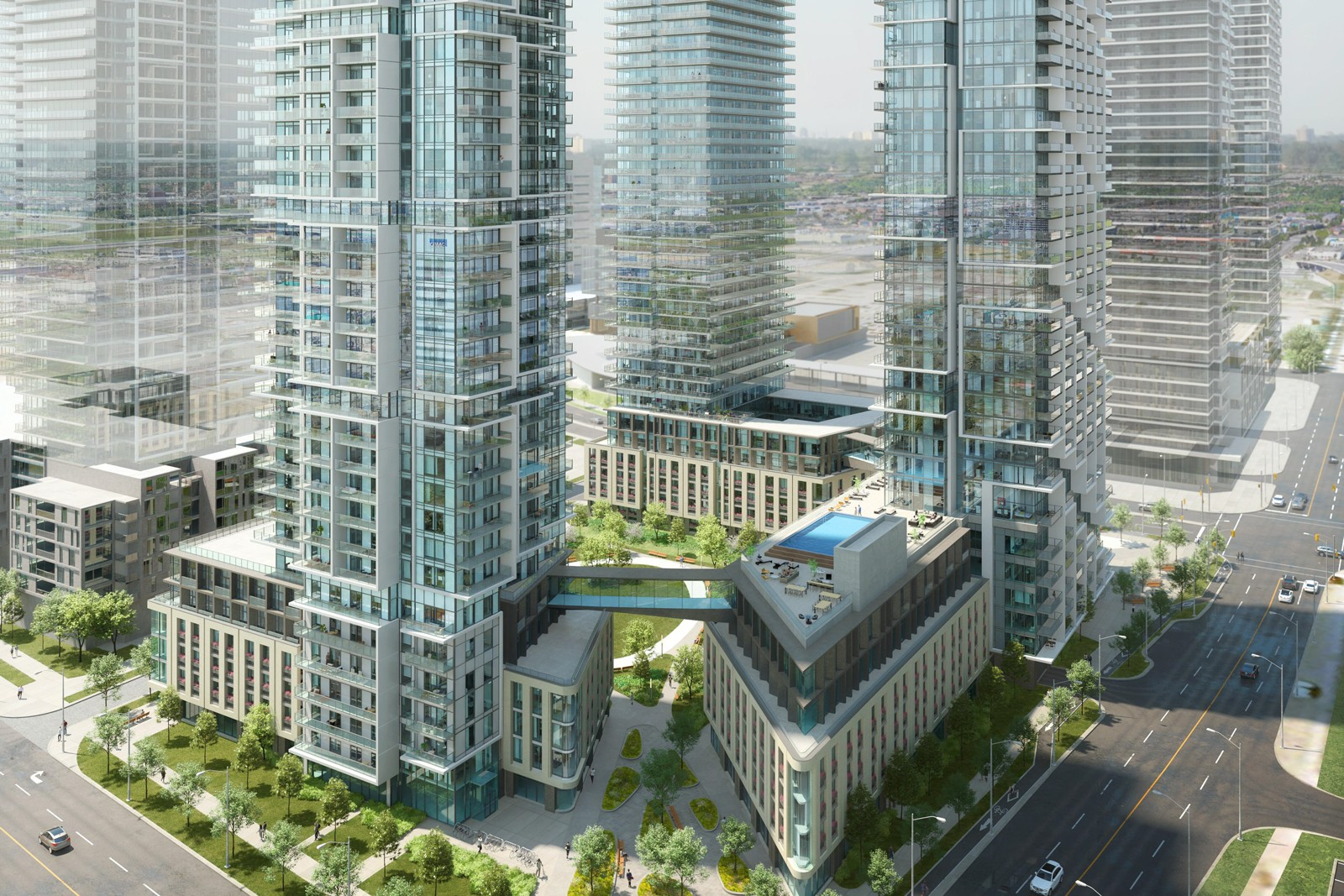 Transit City 4 & 5 at 100 Portage Pkwy, Vaughan 1