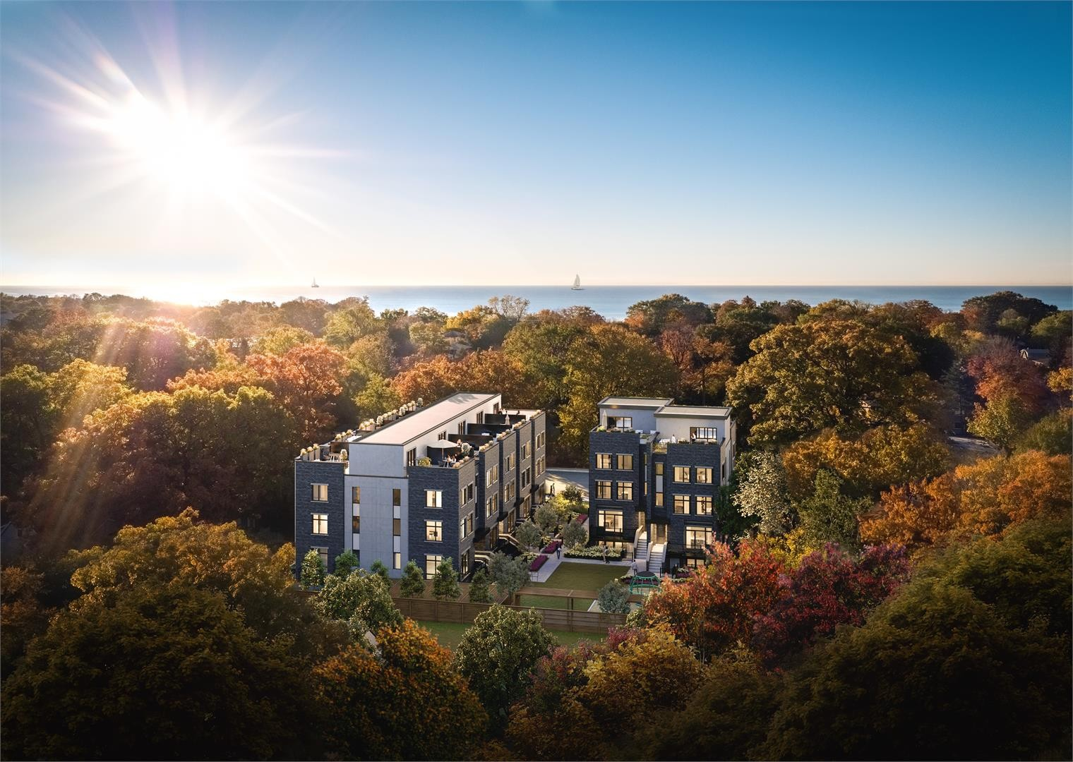 Longhaven Luxury Lakeside Stacked Townhomes at 66 Long Branch Ave, Toronto 0